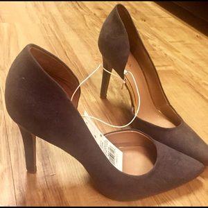 Gray Velvet Merona heels